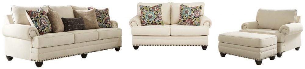 Harrietson - Sofa, Loveseat, Chair and Ottoman