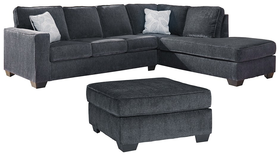 altari 2 piece sectional with ottoman