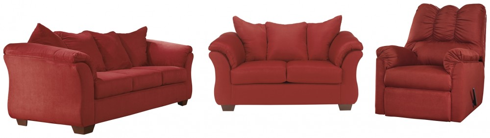 Sofa and Loveseat with Recliner Package