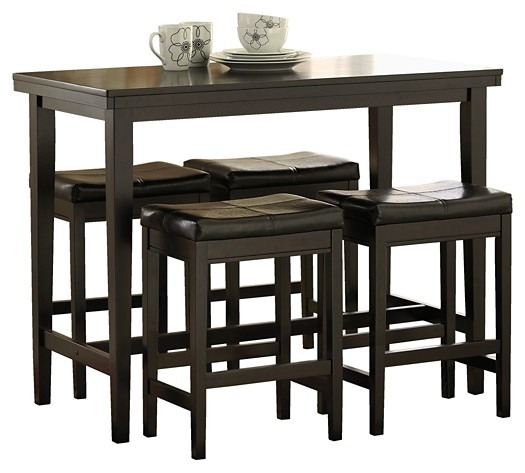 Kimonte - Counter Height Dining Table and 4 Barstools