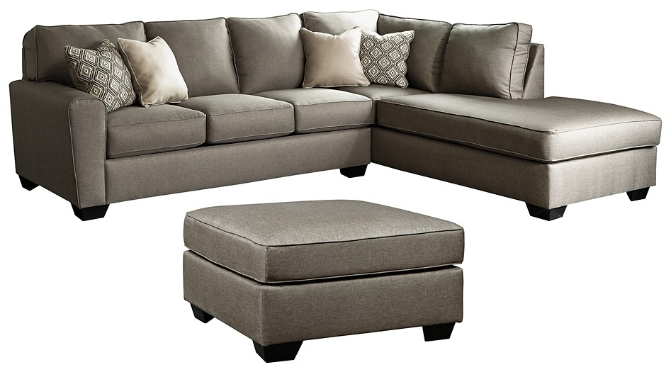 Calicho - 2-Piece Sectional with Ottoman