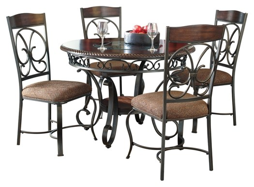 Glambrey - Dining Table and 4 Chairs