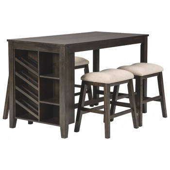Rokane - Counter Height Dining Table and 4 Barstools
