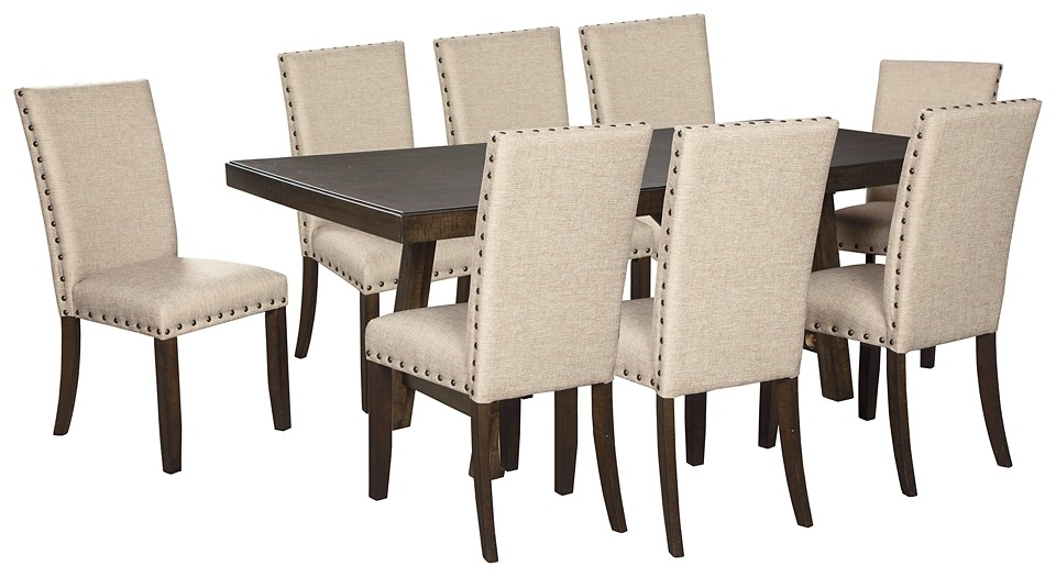 Rokane Dining Table And 8 Chairs D397 02 8 35 Dining Room Groups Price Busters Furniture