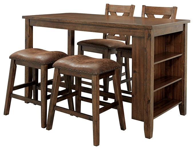 Chaleny - Counter Height Dining Table and 4 Barstools