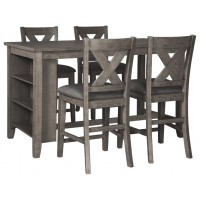 Caitbrook - Counter Height Dining Table and 4 Barstools