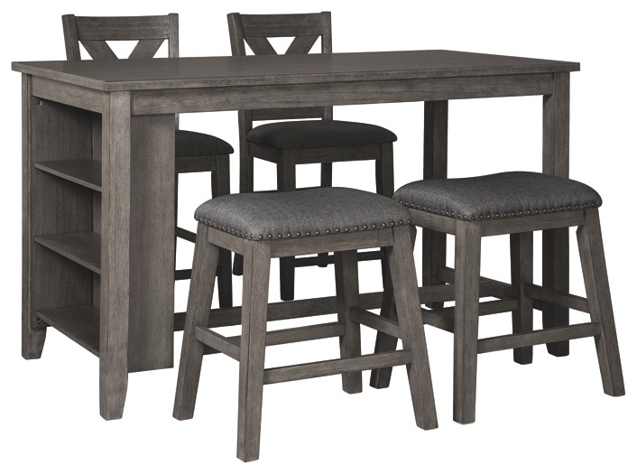 Caitbrook Counter Height Dining Table And 4 Barstools D388 13 124 2 024 2 Dining Room Groups Price Busters Furniture