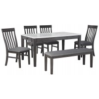 Luvoni - Dining Table and 4 Chairs and Bench