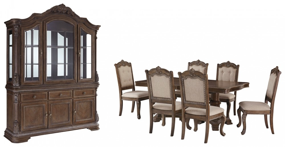 Cucina Letters Kitchen Decor, Charmond Dining Table And 6 Chairs With Storage D803 D6 D5 01 6 Dining Room Groups Price Busters Furniture