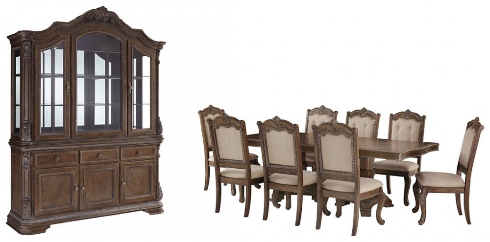 Charmond Dining Table And 8 Chairs With Storage D803 D5 D6 01 8 Dining Room Groups Cummings Furniture