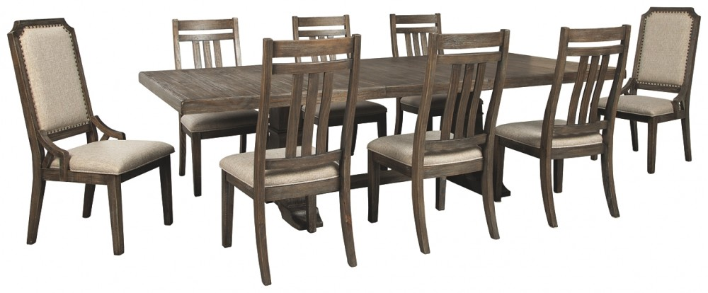 Wyndahl Dining Table And 8 Chairs D813 01 6 02 2 D5 Dining Room Groups Price Busters Furniture