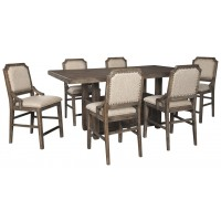 Wyndahl - Counter Height Dining Table and 6 Barstools