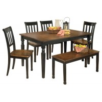 Owingsville - Dining Table and 4 Chairs and Bench