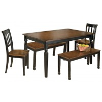 Owingsville - Dining Table and 2 Chairs and 2 Benches