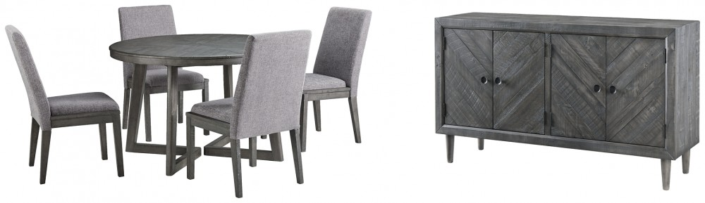 Besteneer - Dining Table and 4 Chairs with Storage