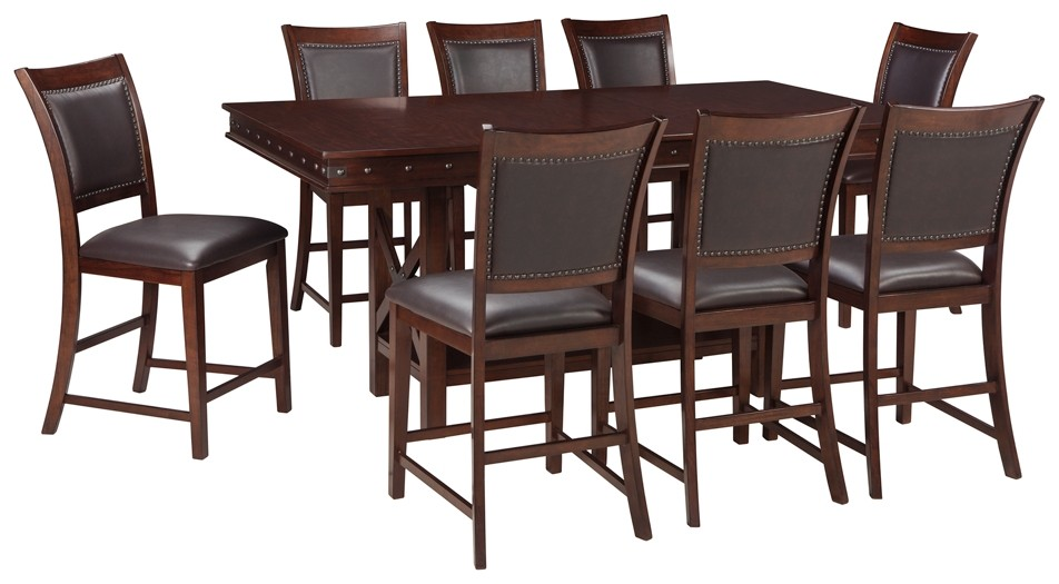 Collenburg Counter Height Dining Table And 8 Barstools D564 32 124 8 Dining Room Groups Price Busters Furniture