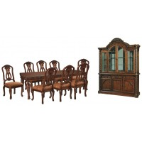 North Shore - Dining Table and 8 Chairs with Storage
