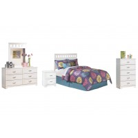 Lulu - Full Panel Headboard with Mirrored Dresser, Chest and Nightstand