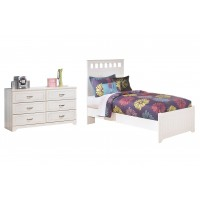 Lulu - Twin Panel Bed with Dresser