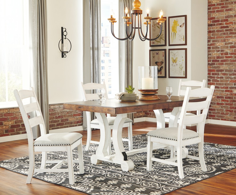 Valebeck Dining Table And 4 Chairs D546 35 01 4 Dining Room Groups Price Busters Furniture