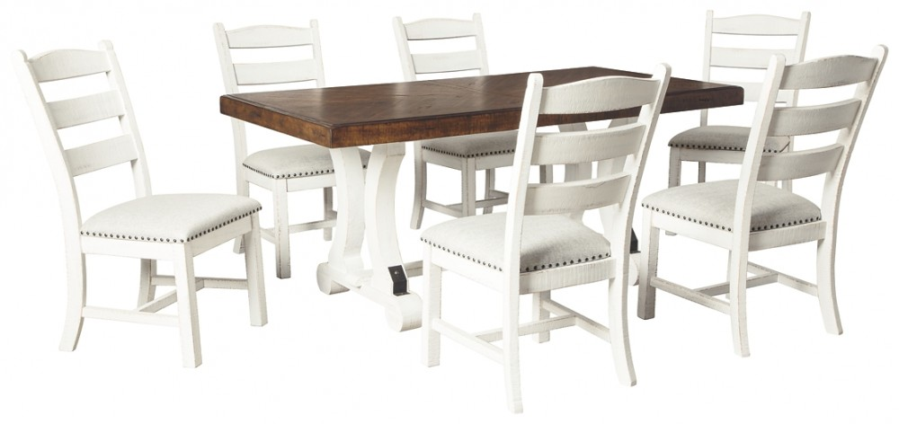 Valebeck Dining Table And 6 Chairs D546 35 01 6 Dining Room Groups Akins Furniture