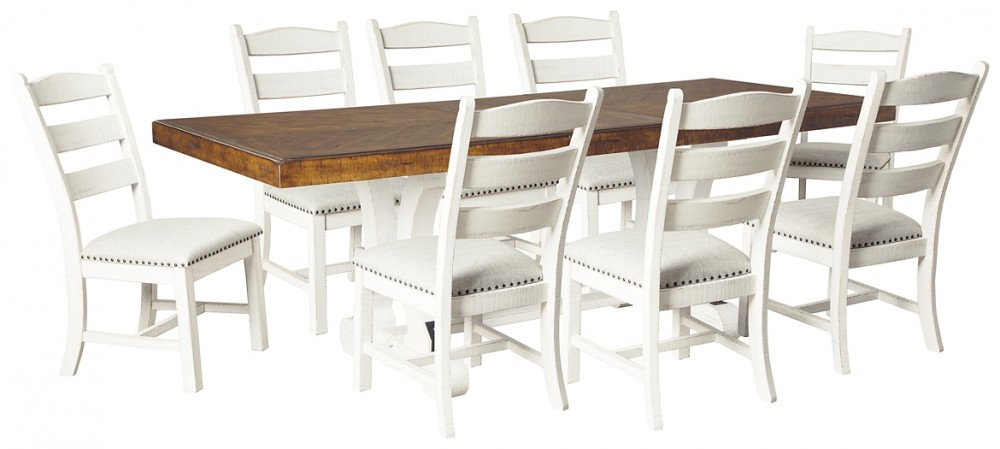 Valebeck Dining Table And 8 Chairs D546 35 01 8 Dining Room Groups L Fish Furniture And Mattress In