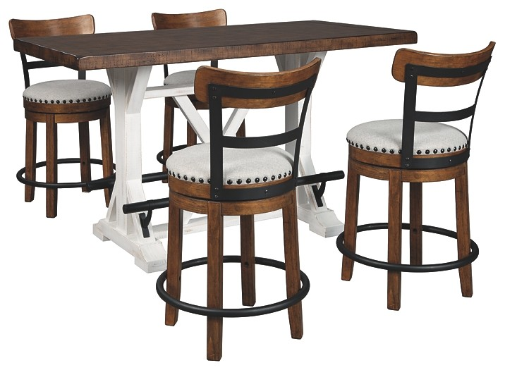 Valebeck - Counter Height Dining Table and 4 Barstools