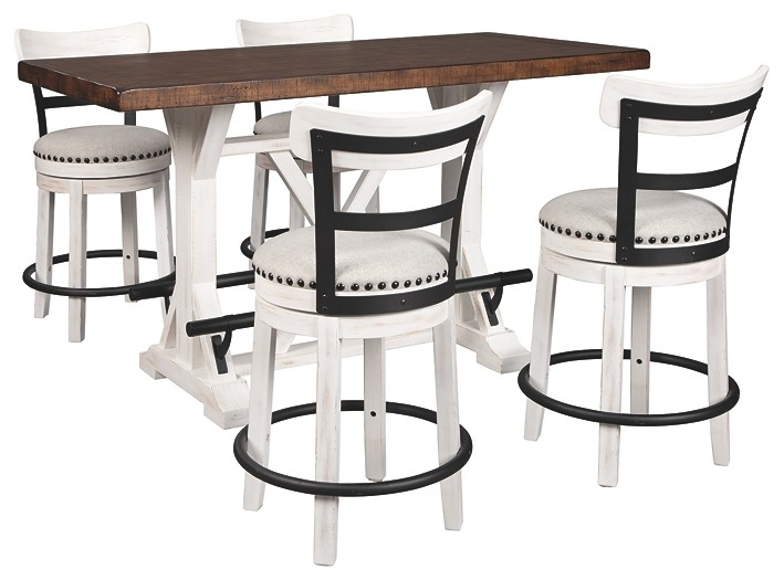 Valebeck Counter Height Dining Table And 4 Barstools D546 13 524 4 Dining Room Groups Today S Rental