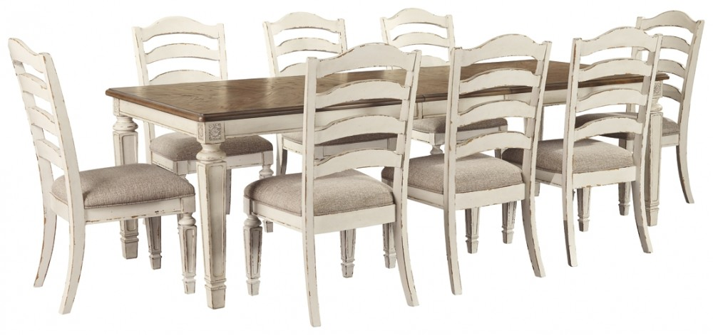Realyn Dining Table And 8 Chairs D743 45 01 8 Dining Room Groups Price Busters Furniture