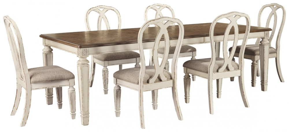Realyn Dining Table And 6 Chairs D743 45 02 6 Dining Room Groups Price Busters Furniture