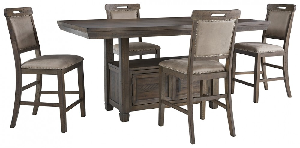 Johurst - Counter Height Dining Table and 4 Barstools