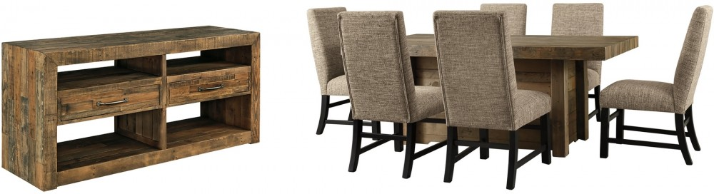 Sommerford Dining Table And 6 Chairs With Storage D775 60 25 01 6 Dining Room Groups Cummings Furniture