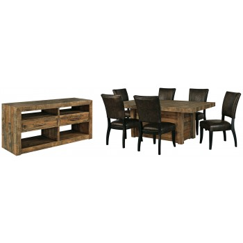 Sommerford Dining Table And 6 Chairs With Storage D775 60 25 02 6 Dining Room Groups Goree S Furniture Express Al