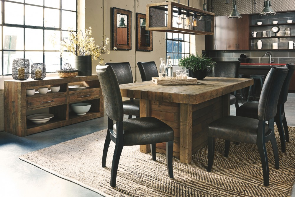 Cucina Letters Kitchen Decor, Sommerford Dining Table And 6 Chairs With Storage D775 60 25 02 6 Dining Room Groups Vergin Sales