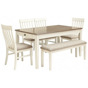 Bardilyn - Dining Table and 4 Chairs and Bench
