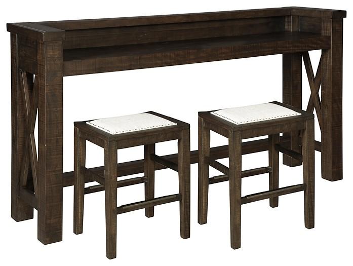 Hallishaw - Counter Height Dining Table and 2 Barstools