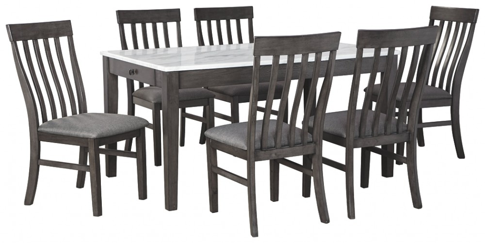 Cucina Letters Kitchen Decor, Luvoni Dining Table And 6 Chairs D464 25 01 6 Dining Room Groups Pruitt S Fine Furniture