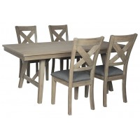 Aldwin - Dining Table and 4 Chairs