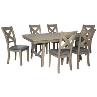 Aldwin - Dining Table and 6 Chairs