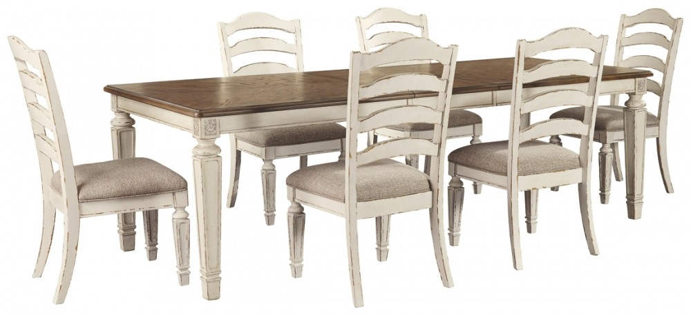 Realyn Dining Table And 6 Chairs D743 45 01 6 Dining Room Groups Mi Bella Casa Furniture Oh