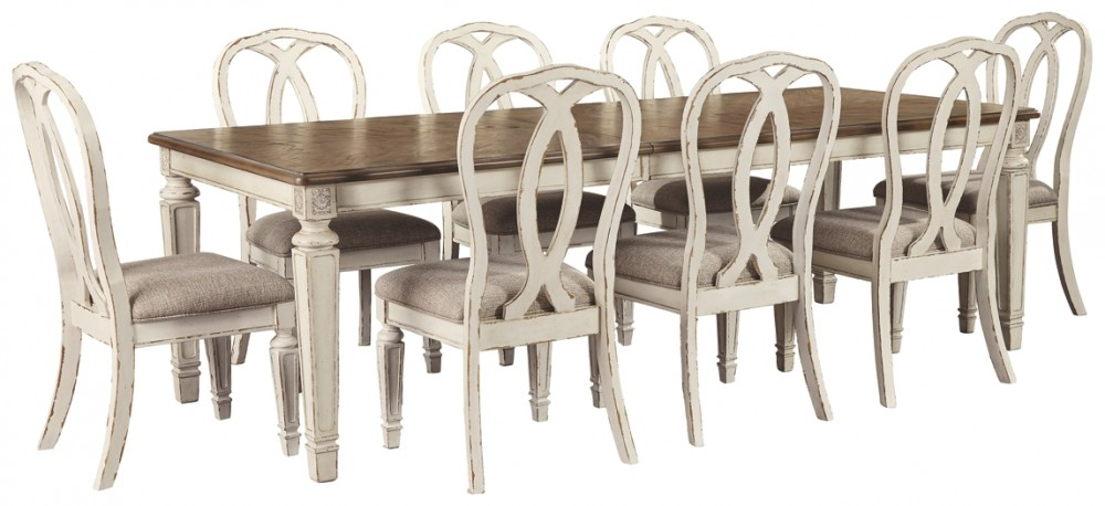 Realyn - Dining Table and 8 Chairs