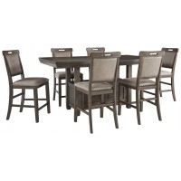 Johurst - Counter Height Dining Table and 6 Barstools