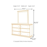 Maribel - King/California King Panel Headboard with Mirrored Dresser and Chest