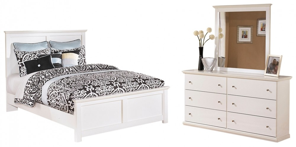 Bostwick Shoals - Queen Panel Bed with Mirrored Dresser