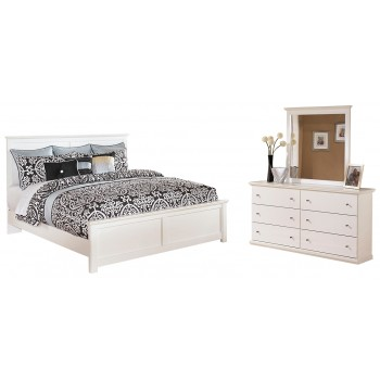Bostwick Shoals - King Panel Bed with Mirrored Dresser