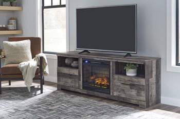 Derekson - XL TV Stand w/Fireplace Option
