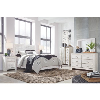 Paxberry - Queen Panel Bed with Mirrored Dresser