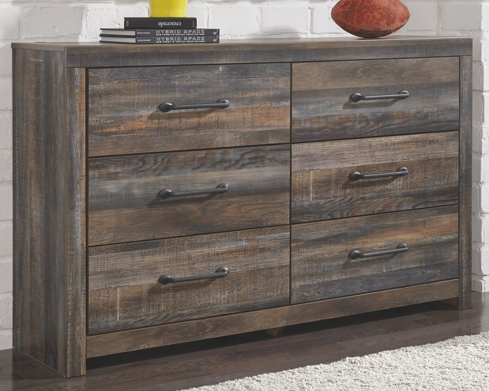 Drystan - Full Bookcase Bed with 2 Storage Drawers with Dresser