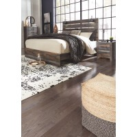 Drystan - King Panel Bed with Mirrored Dresser