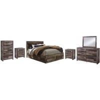 Derekson - Queen Bed with Mirrored Dresser, Chest and 2 Nightstands
